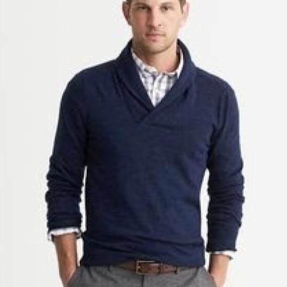 Banana Republic Sweaters Hp Navy Shawl Collar Sweater M Poshmark